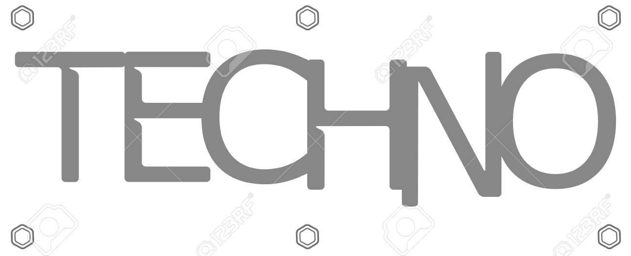 vector illustration logo technic with bolts on white background