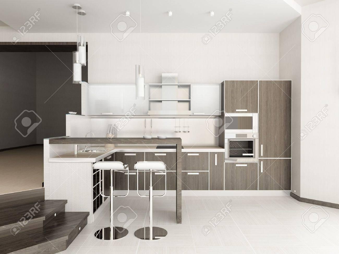 Modern interior of kitchen Stock Photo - 7109300