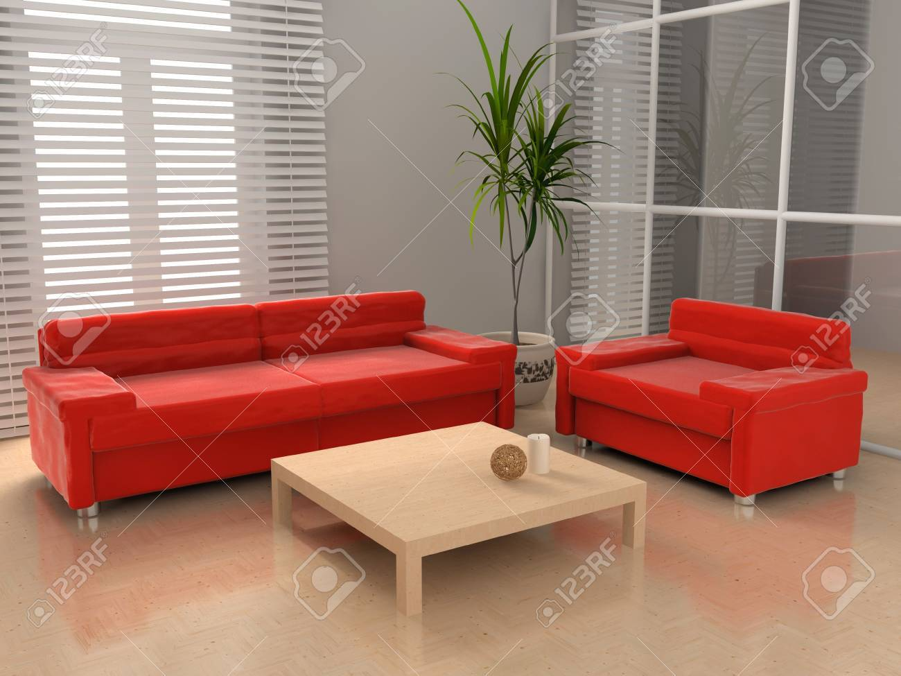 Living room 3D Stock Photo - 23000576