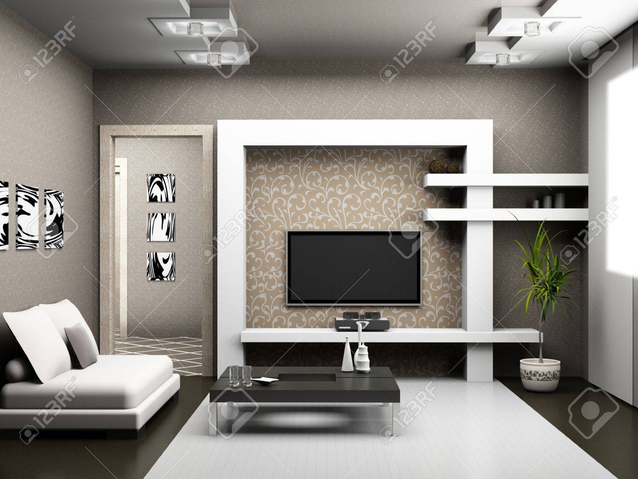 Living room 3D Stock Photo - 23000605