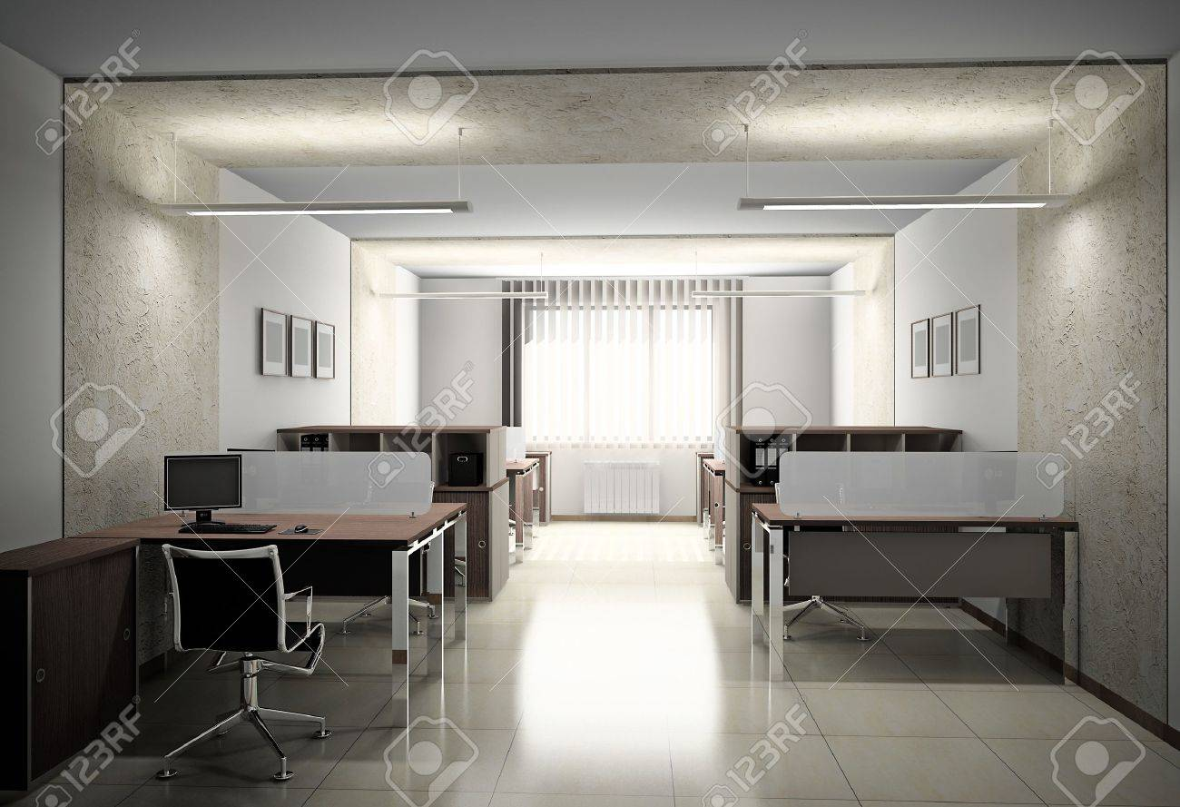 Interior of modern office 3D Stock Photo - 10914018