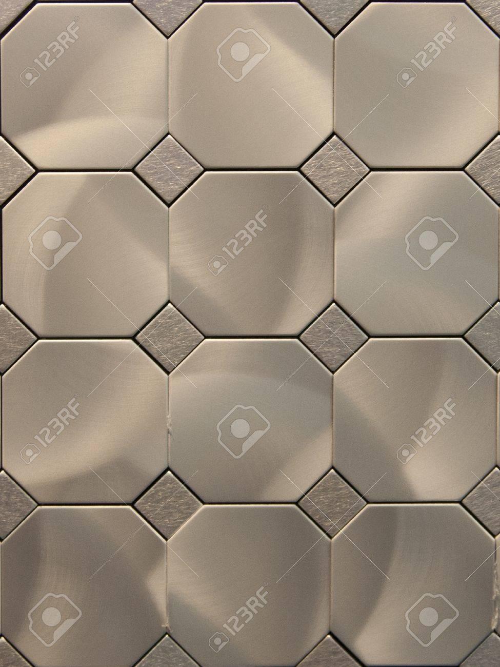 The actual texture of metal tiles
