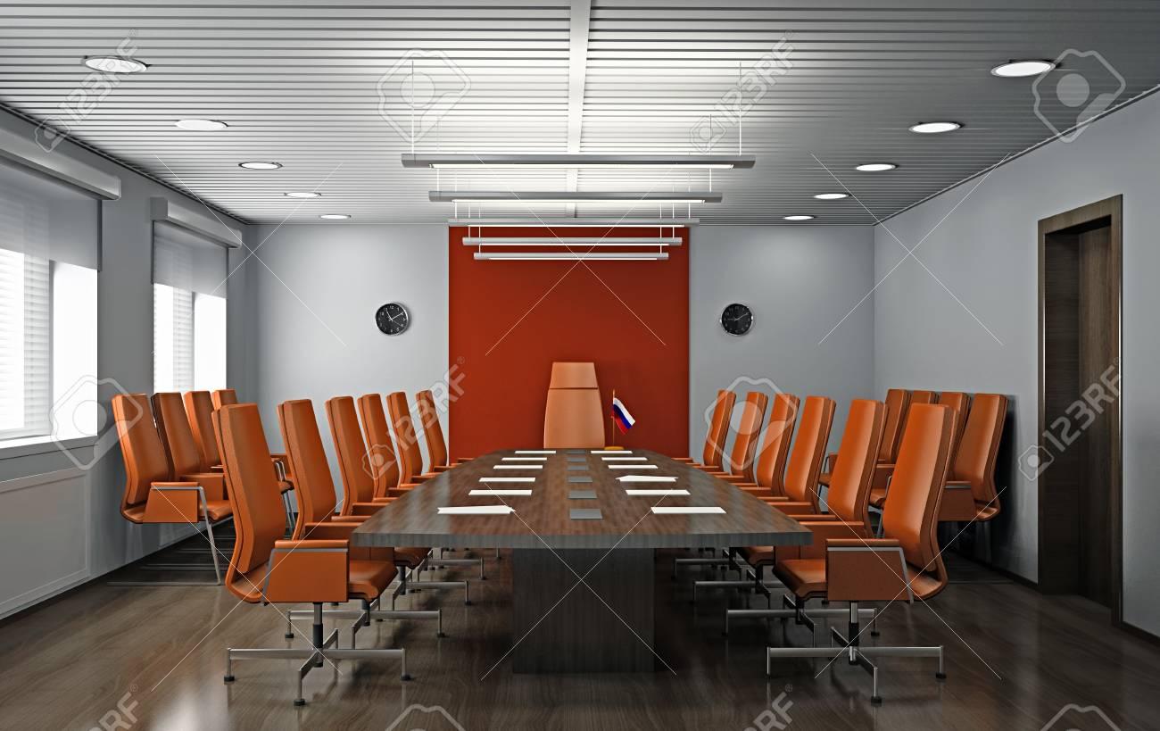 Interior of modern office 3D Stock Photo - 21195804