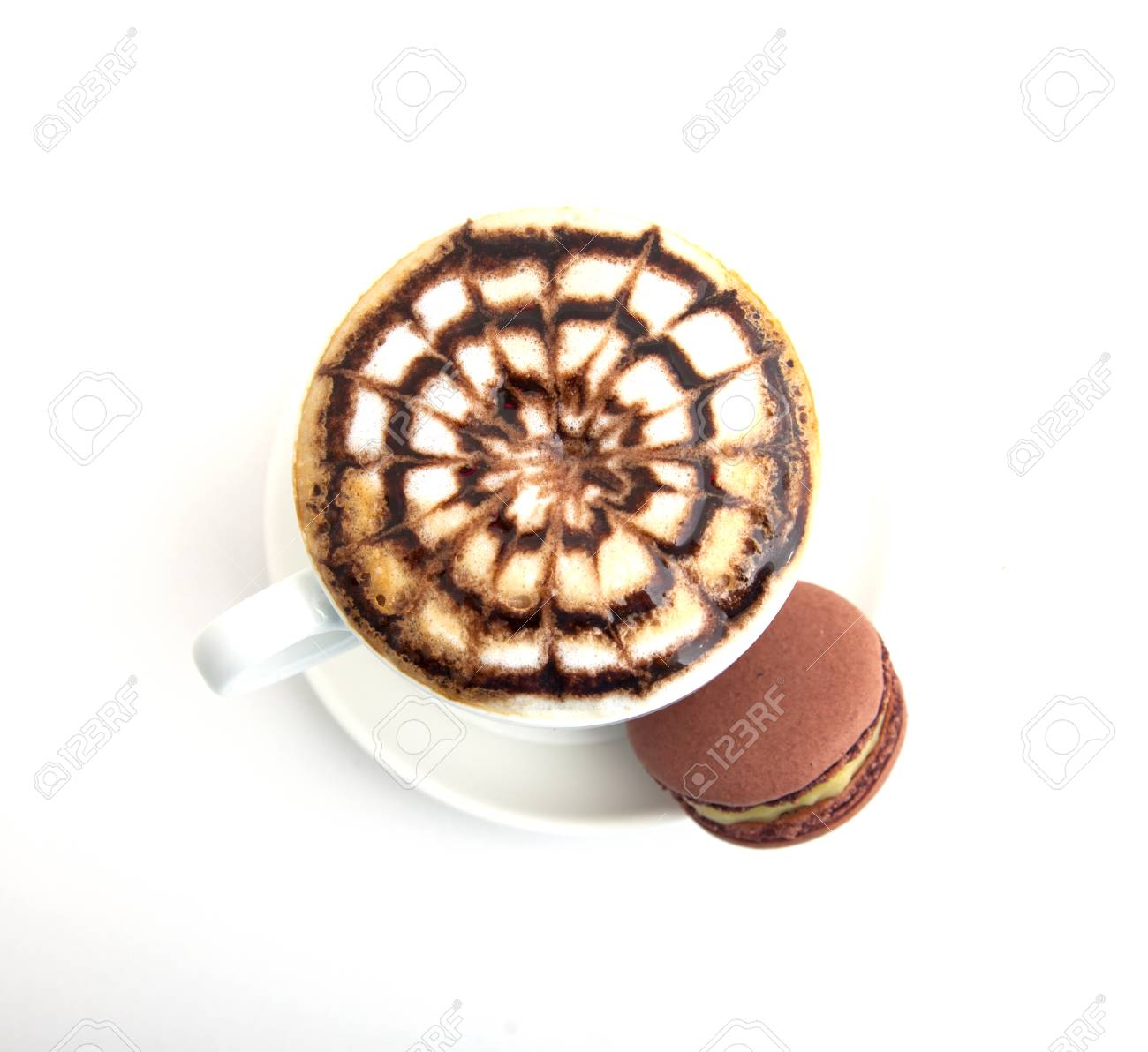 Photo a cup of cappuccino with cookies Stock Photo - 23015338