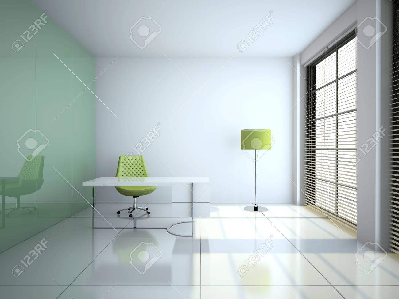Image verre vide et bois moderne bureau couloir pe