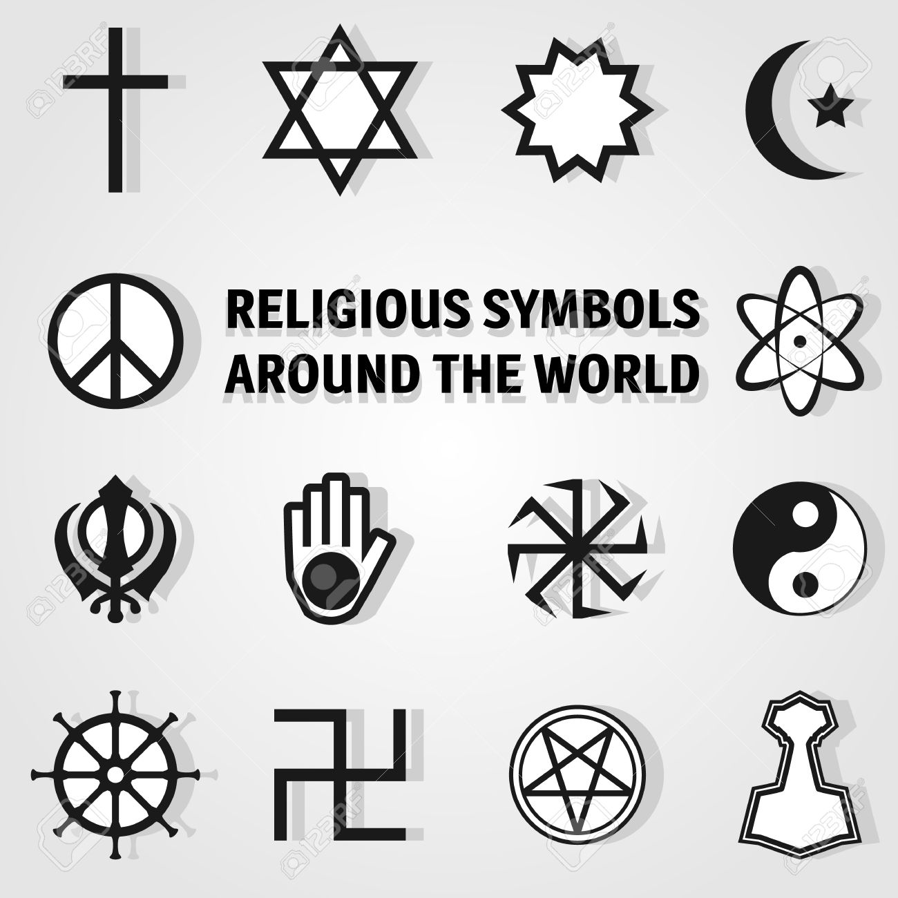 Religious symbols around the world icon set royalty free religious symbols around the world icon set stock vector 43945350 buycottarizona