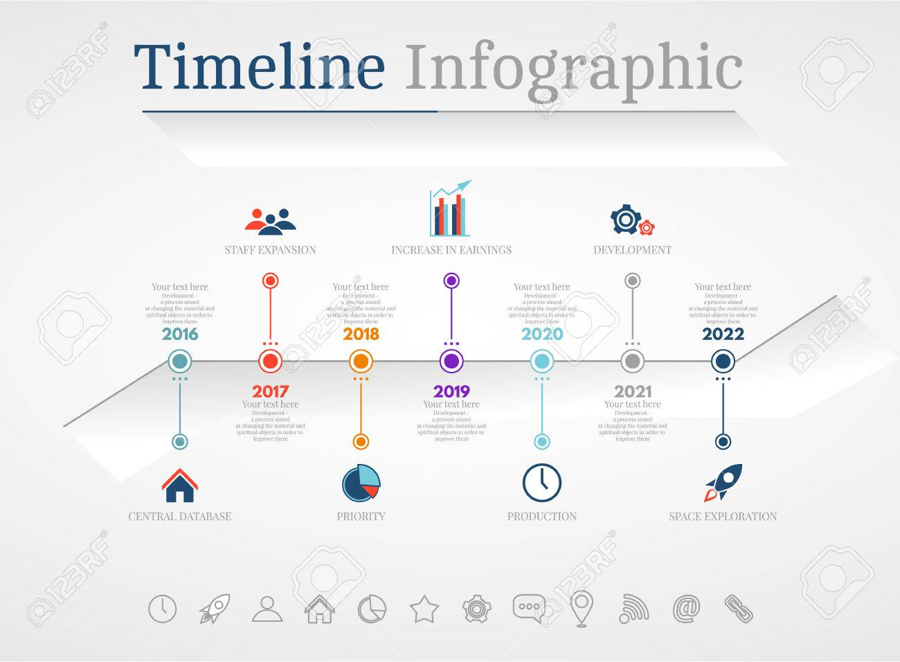 Timeline Infographic Design Templates # 3. With Paper Tags. Idea ...