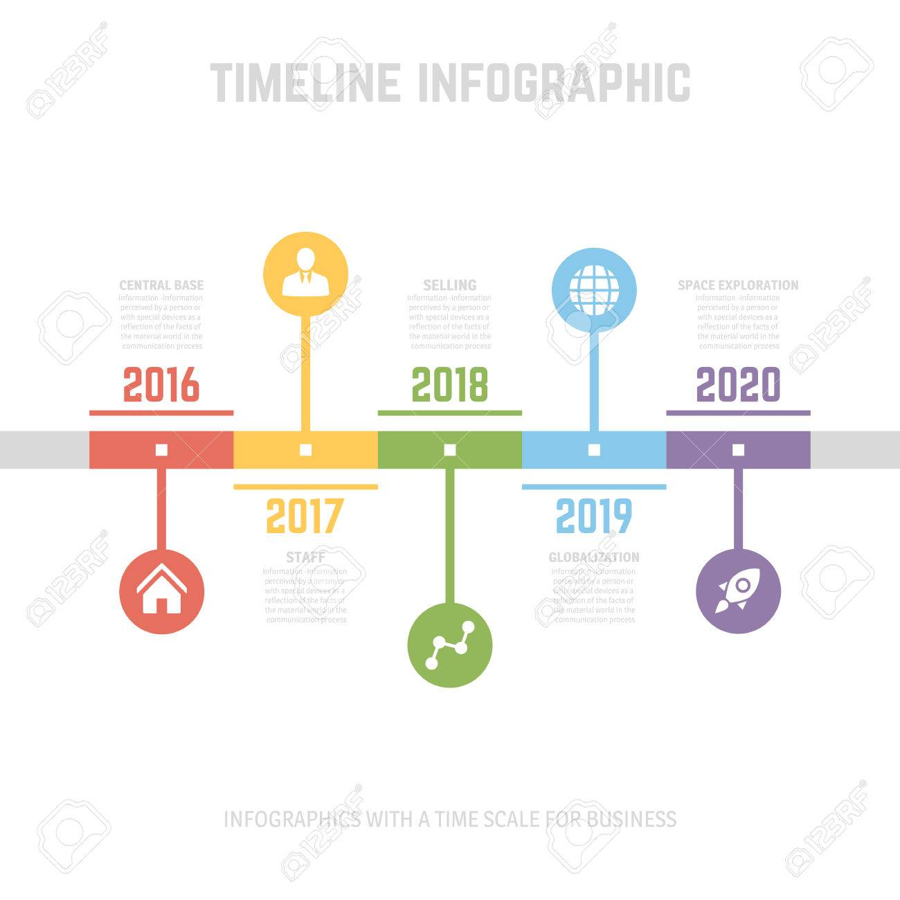 Timeline Infographic design templates  With paper tags  Idea