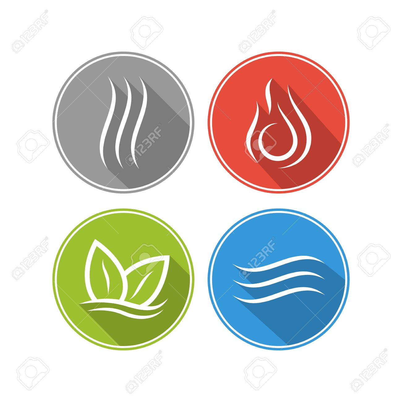 Four Forces Elements Water Fire Earth Air The Symbols Of Magic