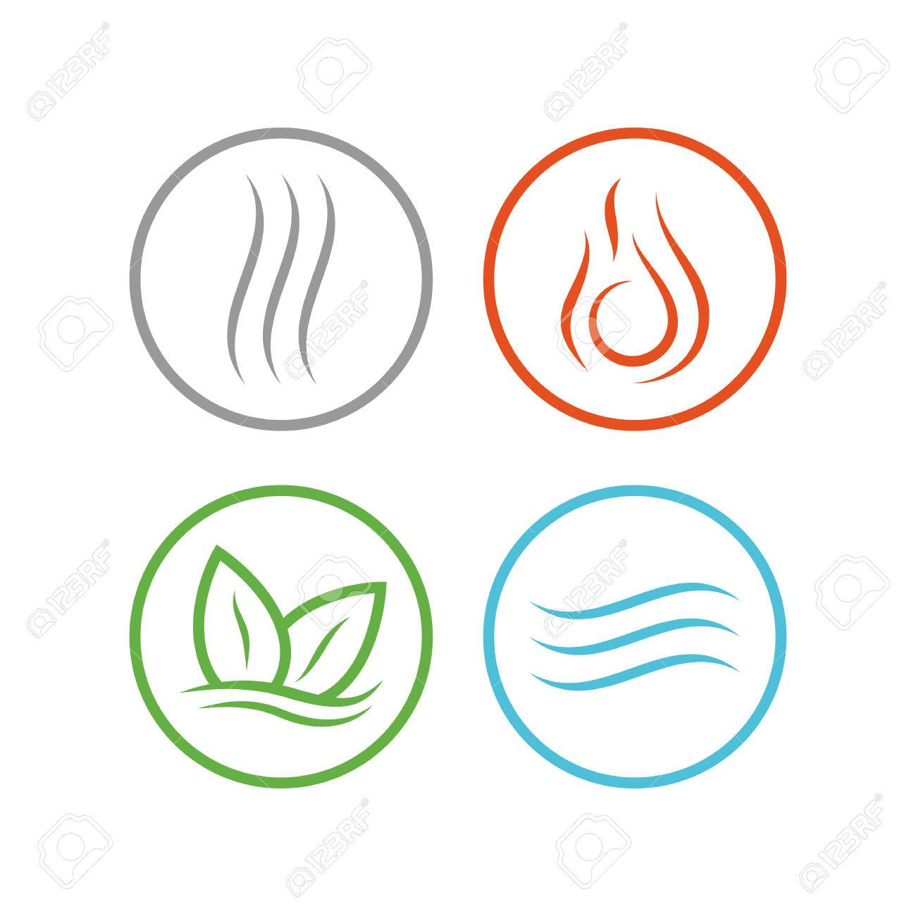 Four Forces Elements Water Fire Earth Air The Symbols Of