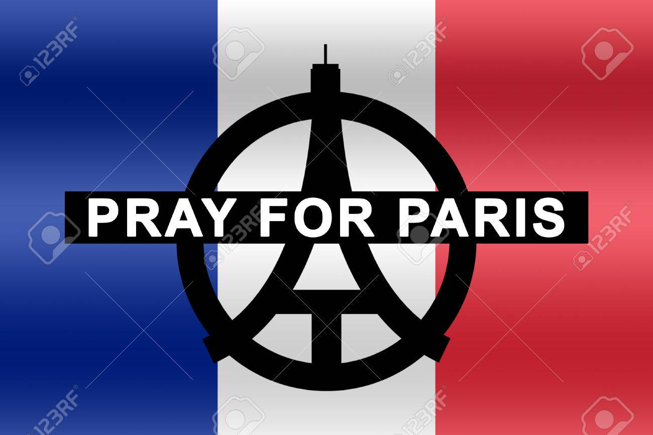 france flag with text pray for paris stock photo picture and