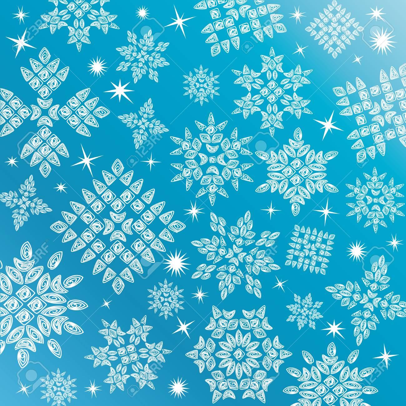 Vector Snowflakes Set Stock Vector - 8704339