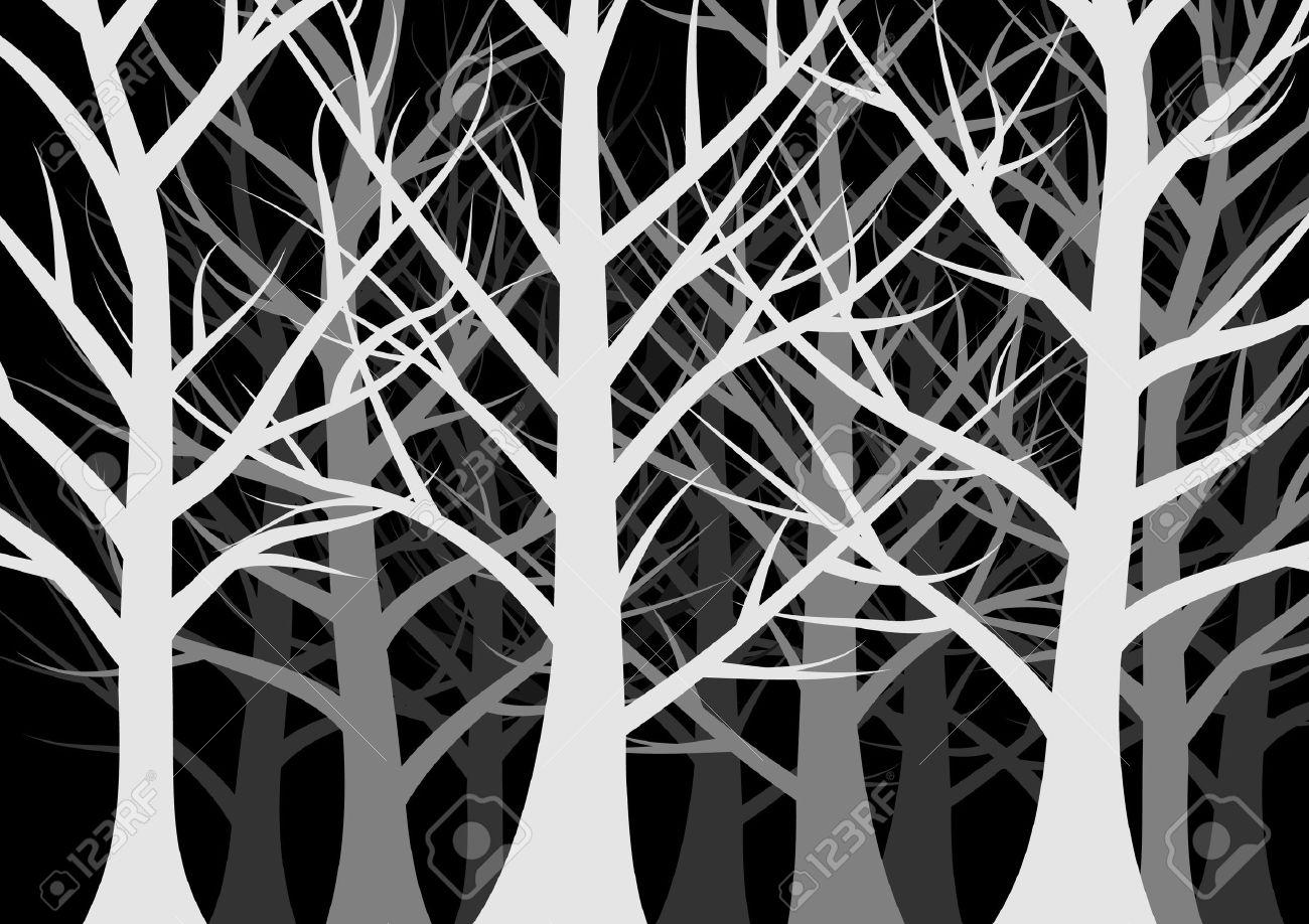 dark forest full of trees Stock Vector - 10127483