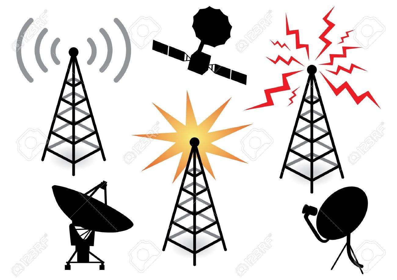 illustration with a set of radio devices Stock Vector - 10661057