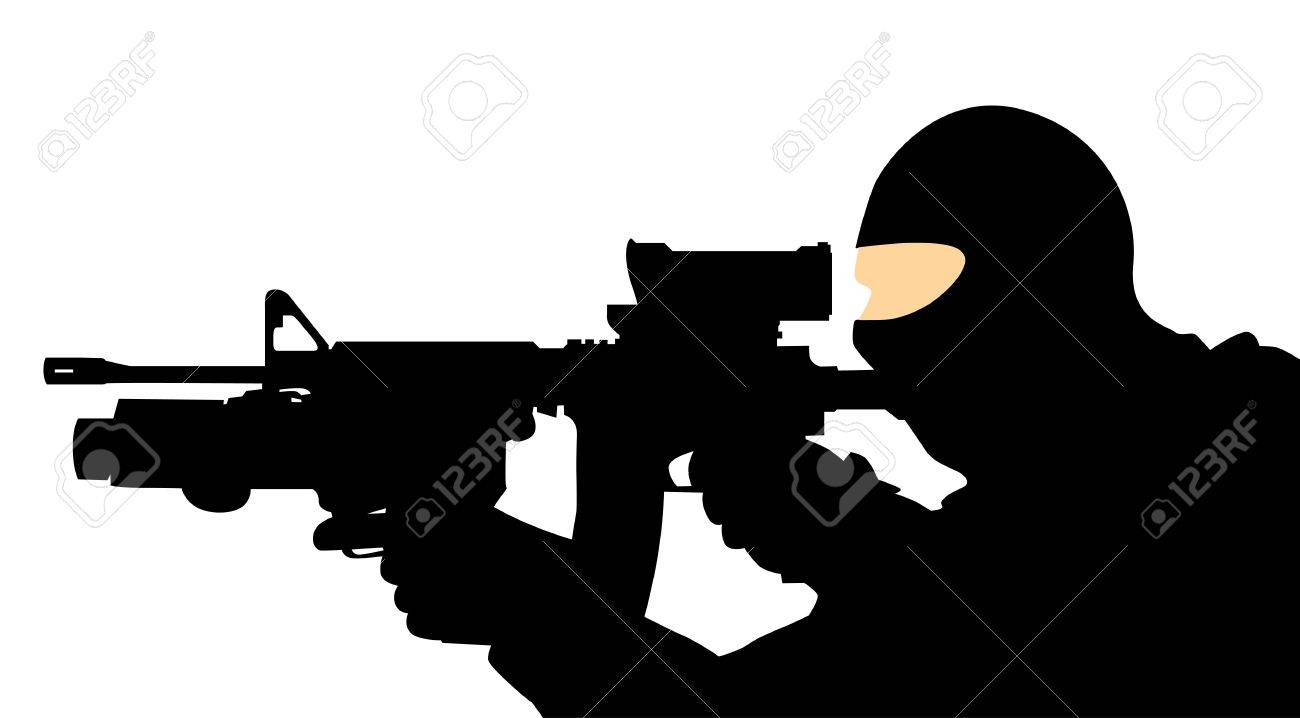 soldier with a gun Stock Vector - 13078107