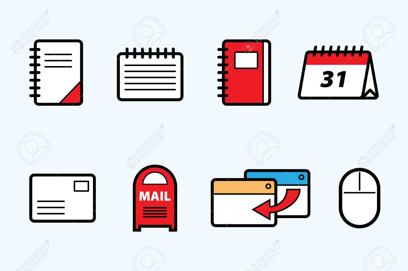 web icons Stock Vector - 13752289