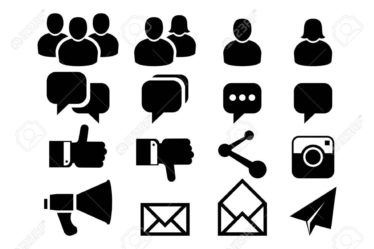 Blog and Social Media icons Stock Vector - 21206129