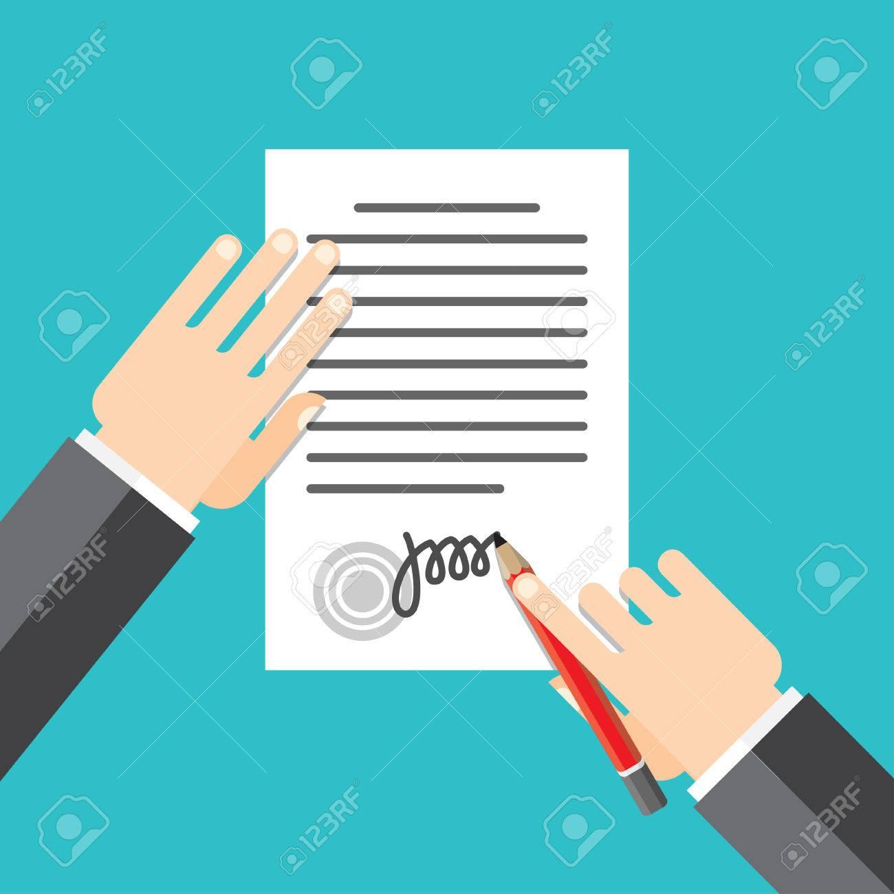 Mango Signos Hombre Documento Sellado Pone Su Firma Estilo De ...