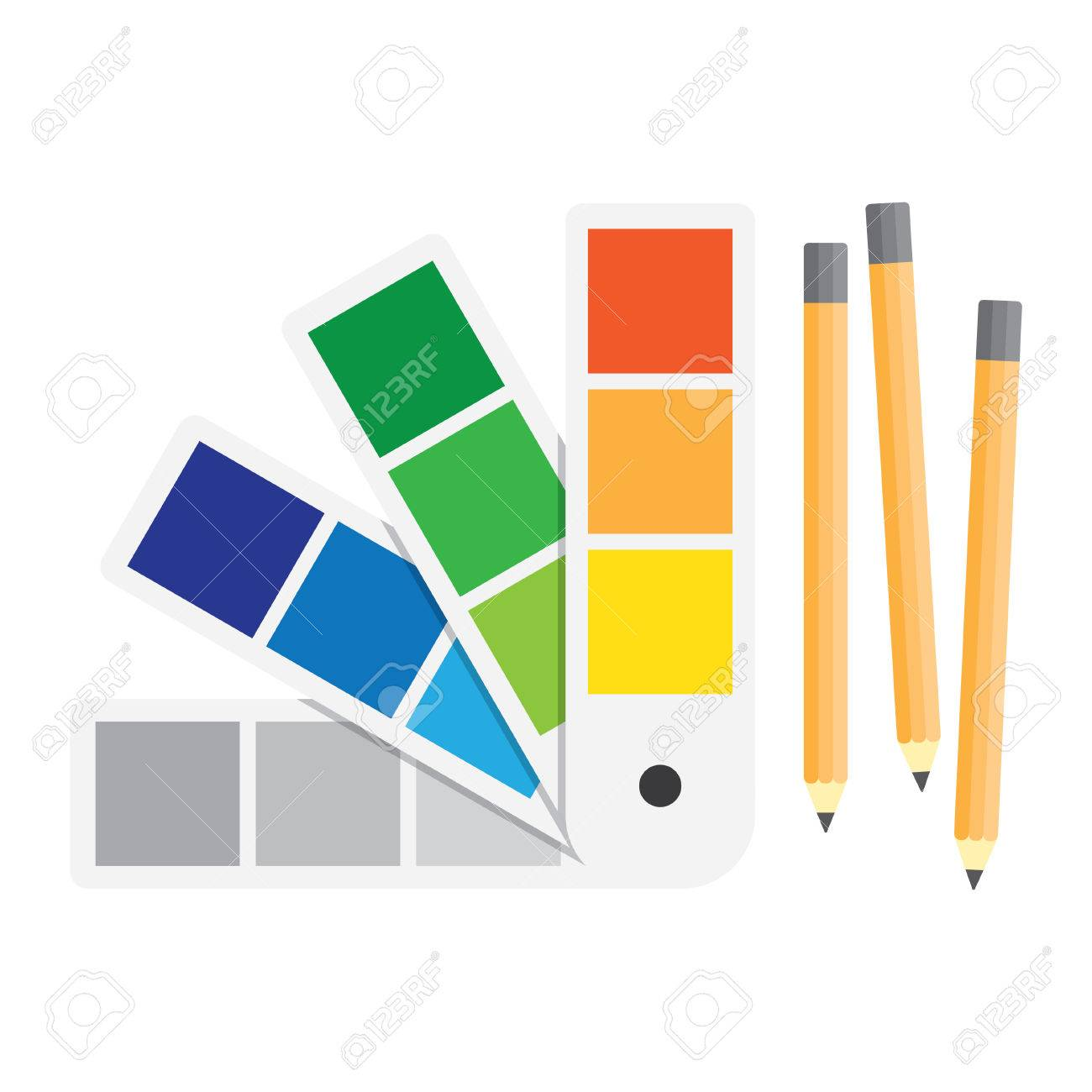 Color Swatches Book. Color Palette Guide. Flat Vector Illustration ...
