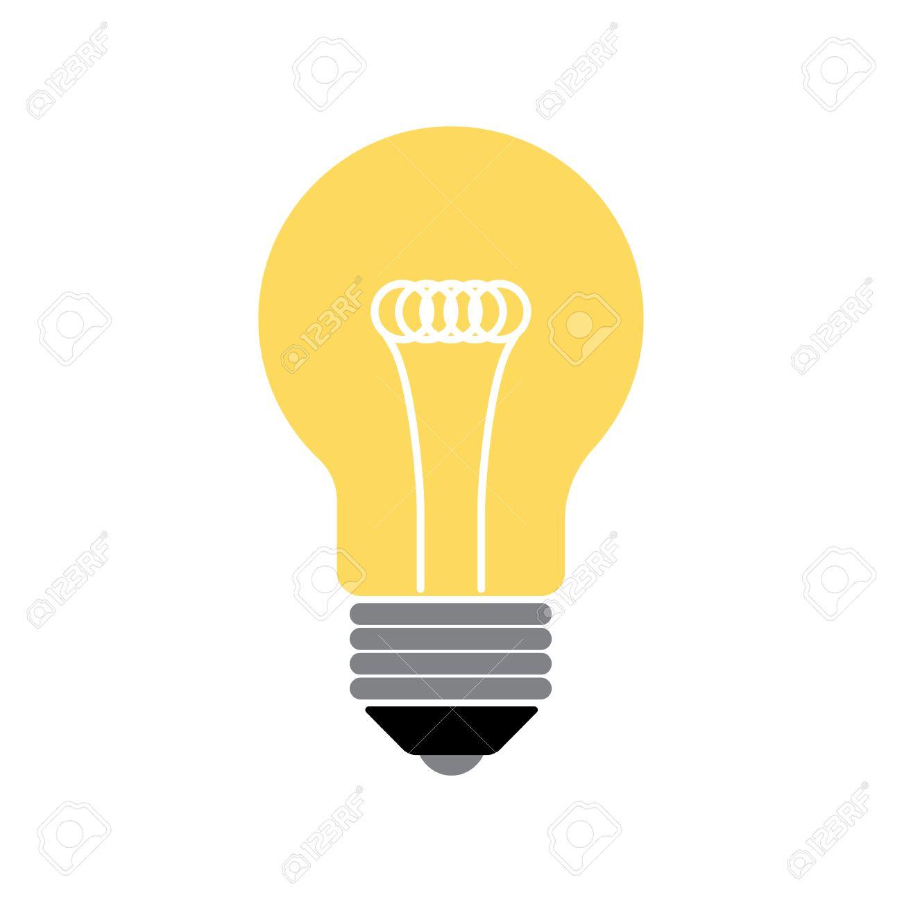 vector flat design lightbulb lightbulb icon lightbulb image rh 123rf com vector light bulb clip art vector light bulb icon