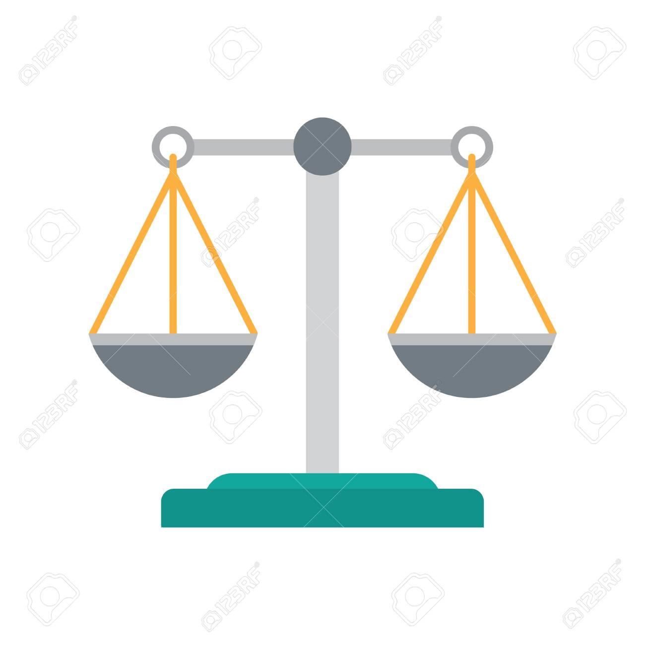 Scales Of Justice Icon Empty Scales Law Balance Symbol Vector