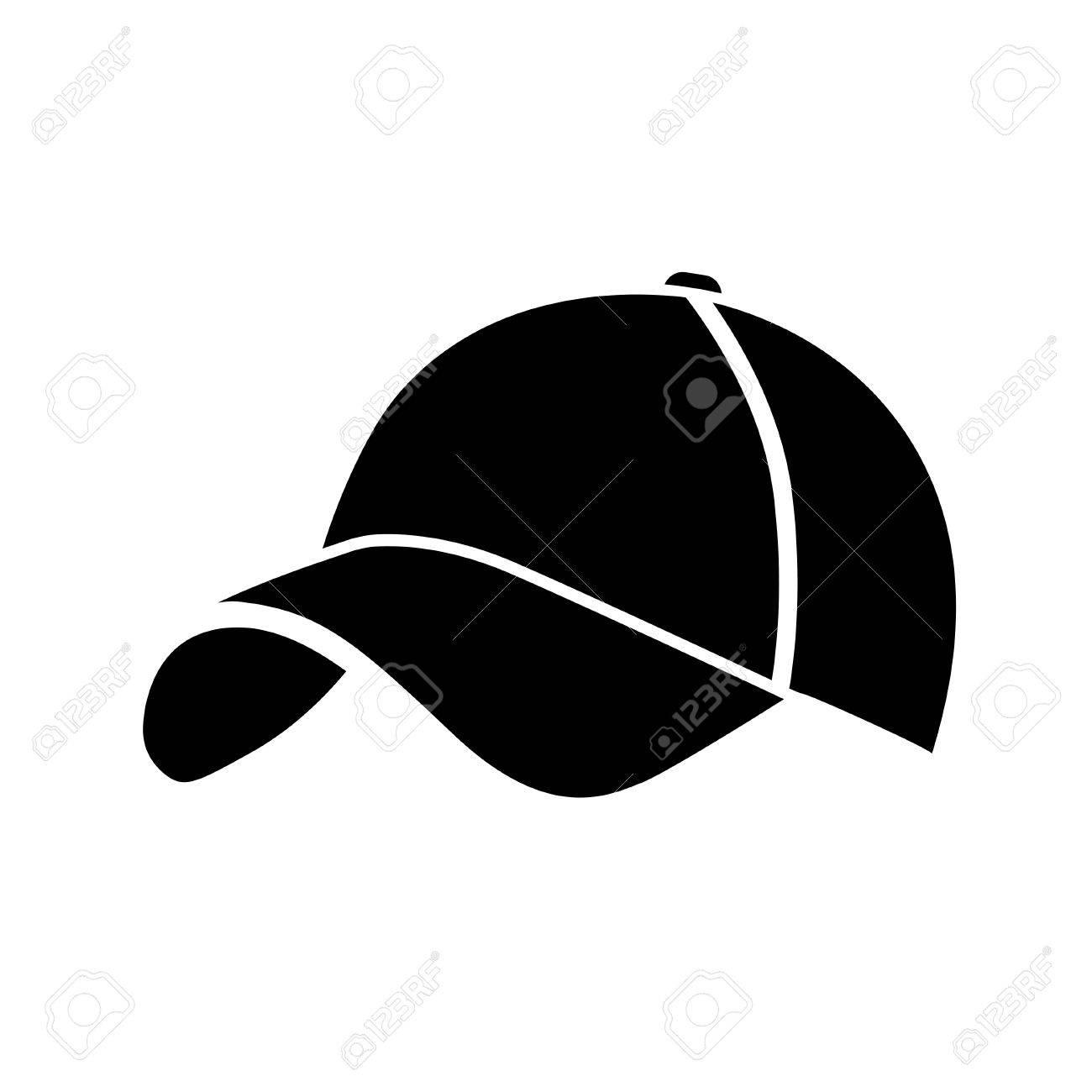 black baseball cap icon on white background vector illustration rh 123rf com baseball cap vector download baseball cap vector free download