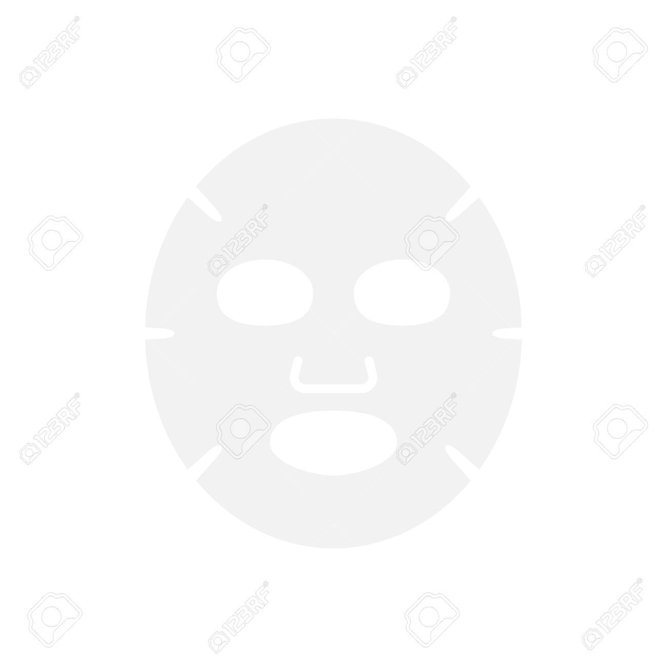 Facial mask flat icon. Medicine, cosmetology and health care. Vector illustration flat design - 86223171