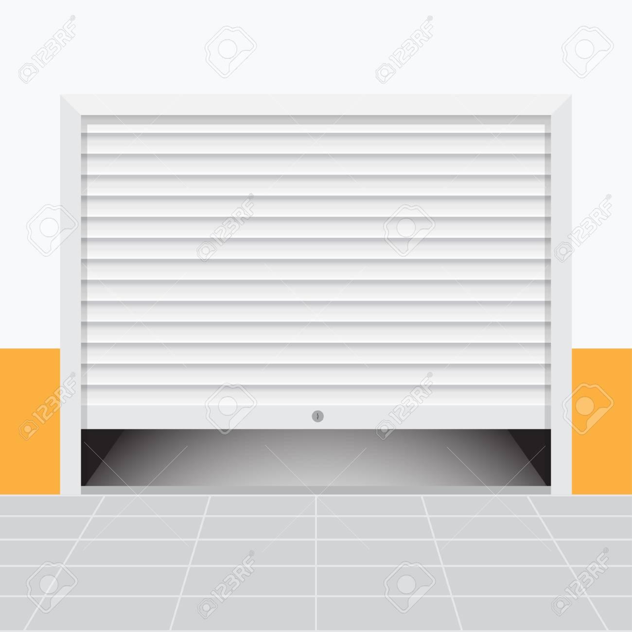 Superieur Roller Warehouse Shutter Doors, Garage Door. Vector Illustration Stock  Vector   94513873