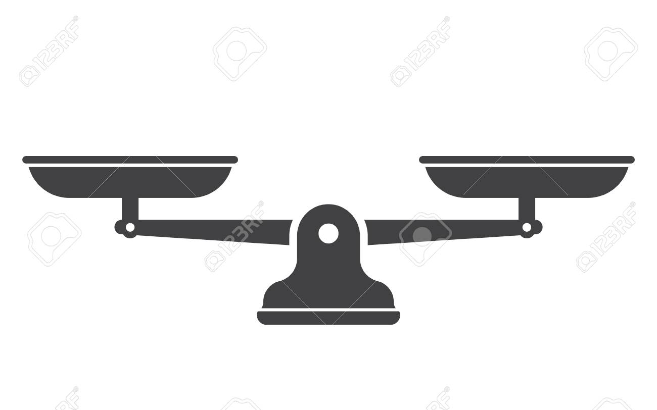 Scales, Flat design, Libra, vector illustration isolated on white background - 100230499