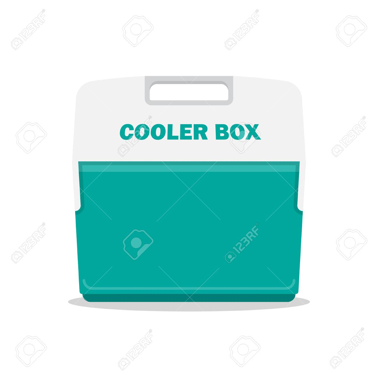 f96620d7cdc9 Handheld blue refrigerator, ice cooler for picnic or camping...