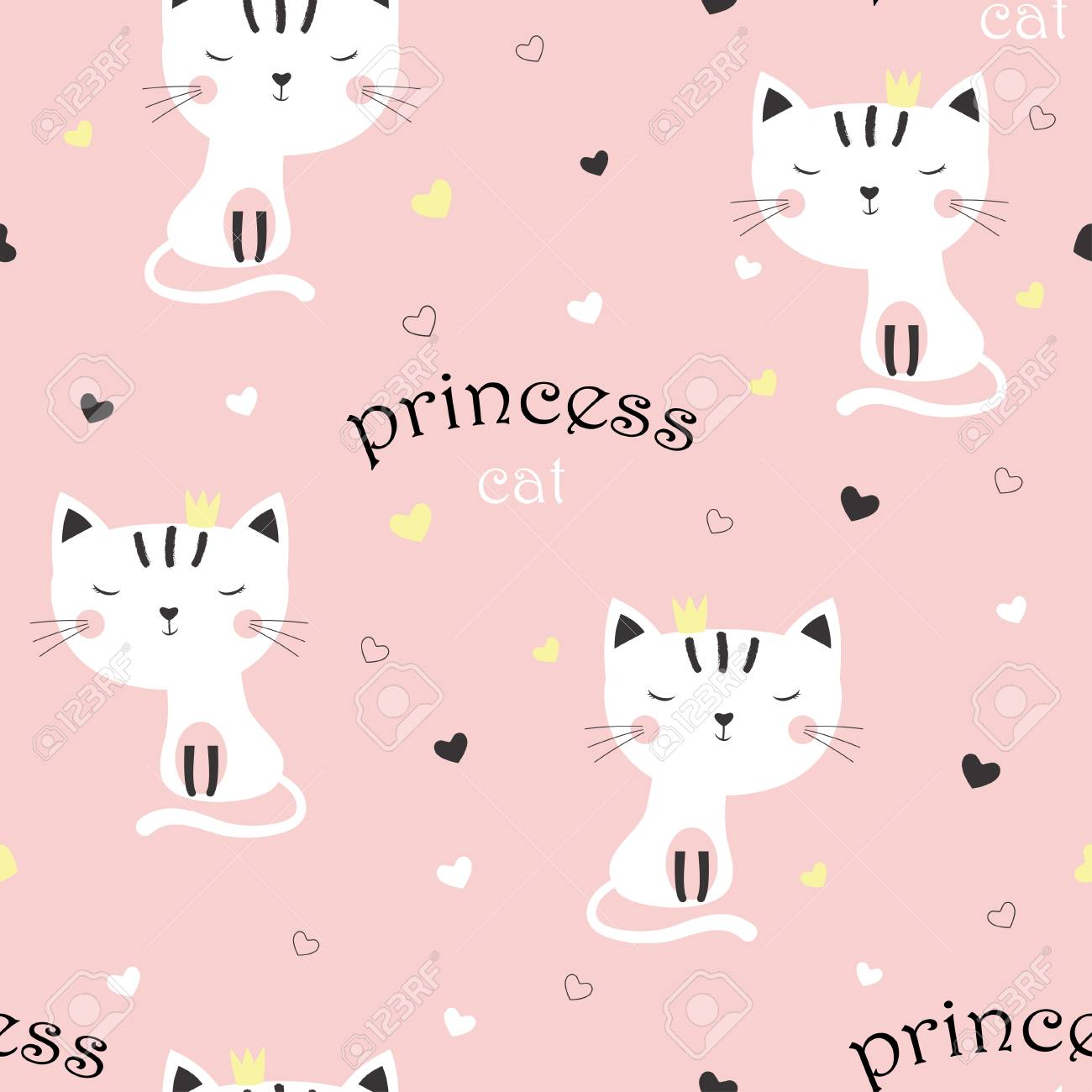 Pattern With Cartoon Sweet Cat Girl In Crown On Pink Background Royalty Free Cliparts Vectors And Stock Illustration Image 115451961 Your cartoon crown stock images are ready. pattern with cartoon sweet cat girl in crown on pink background