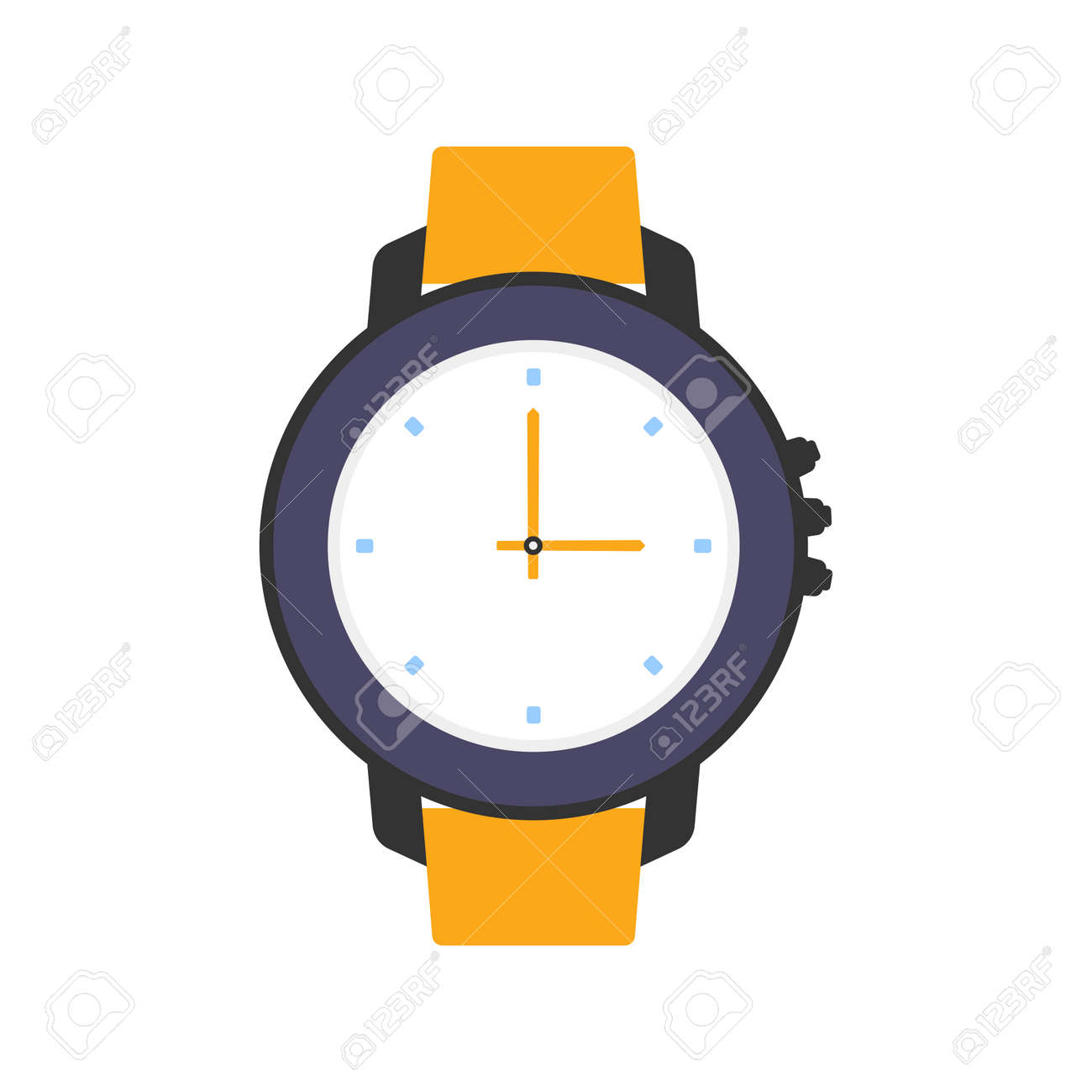 water proof wrist watch isolated on white background, vector illustration, diving watch - 167154733