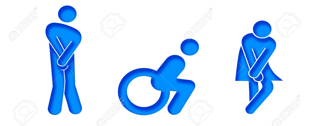 Cute Cool And Funny Symbols For Wc Stock Photo Picture And Royalty