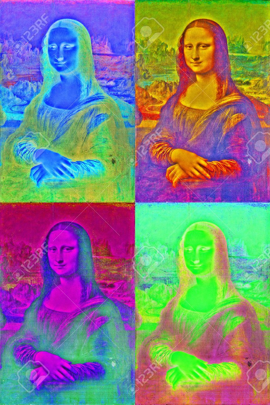 Häufig Mona Lisa In Pop Art Style Andy Warhol Inspired Stock Photo  JD07