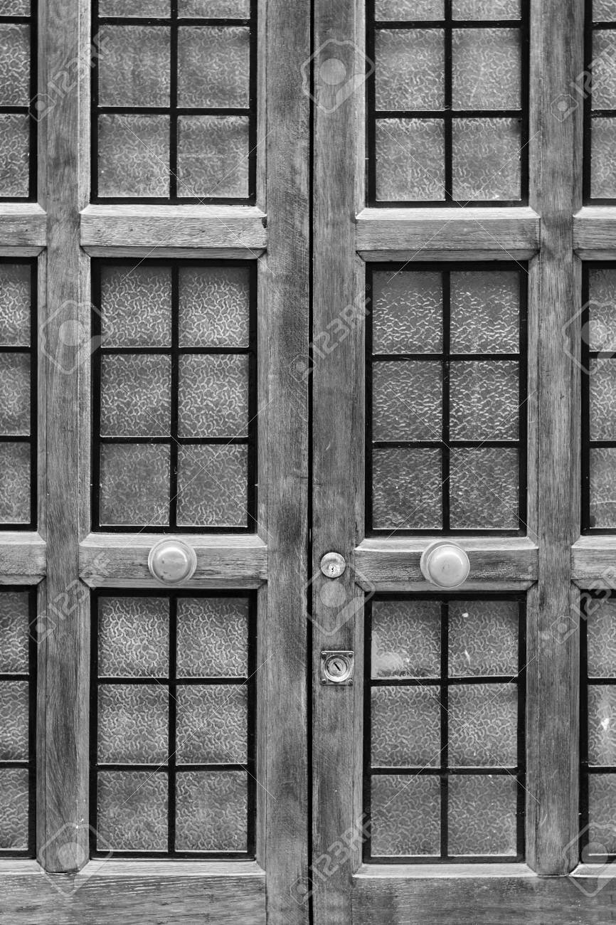Stock Photo Vintage Door With Glass And Bars The Entrance To Palace Background