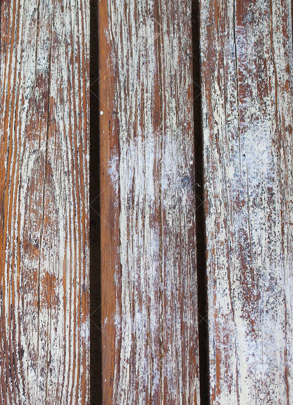 Old wooden slats with peeling paint.Background texture. - 79376781