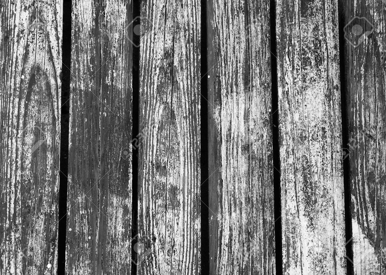 Old wooden slats with peeling paint.Background texture. - 79522160