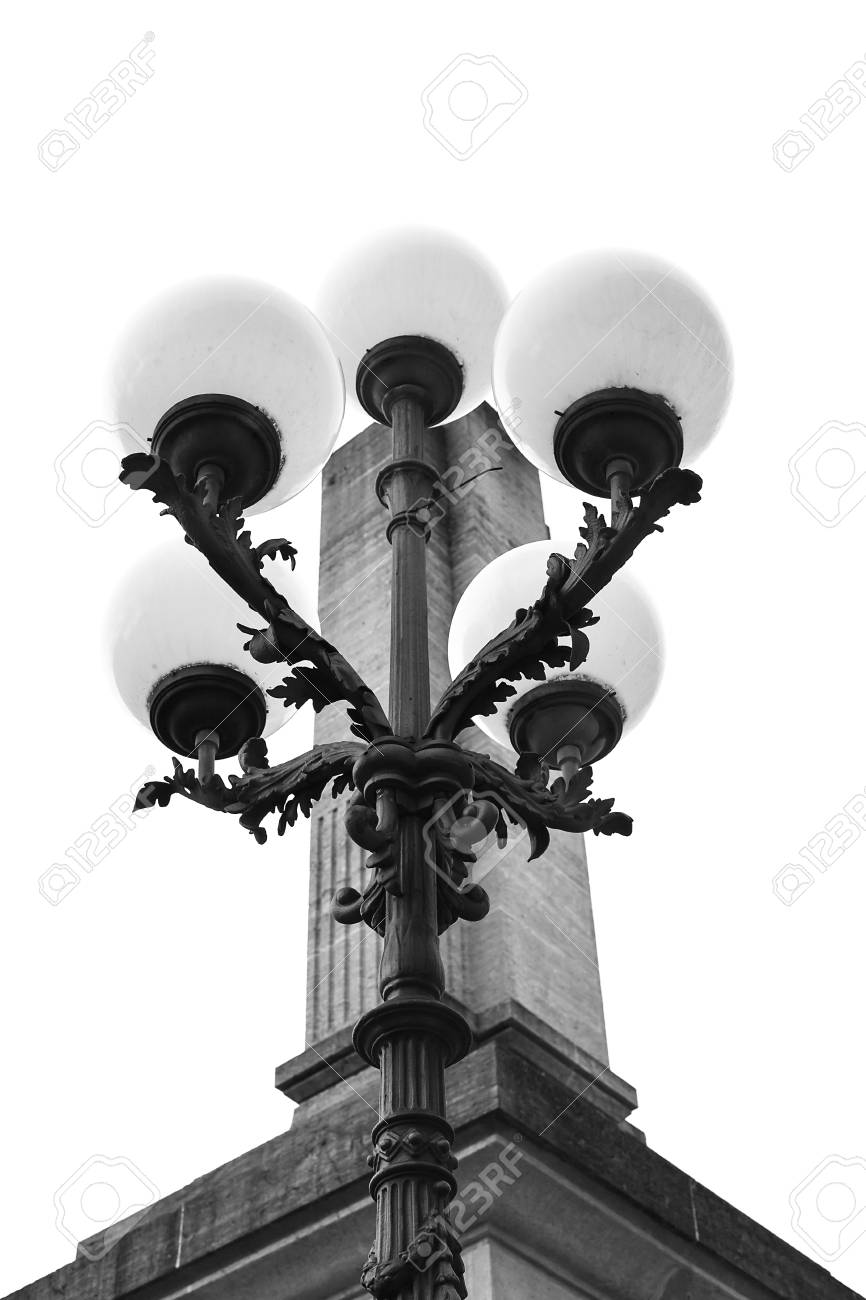 Street lantern beautiful shape close-up. - 86952604