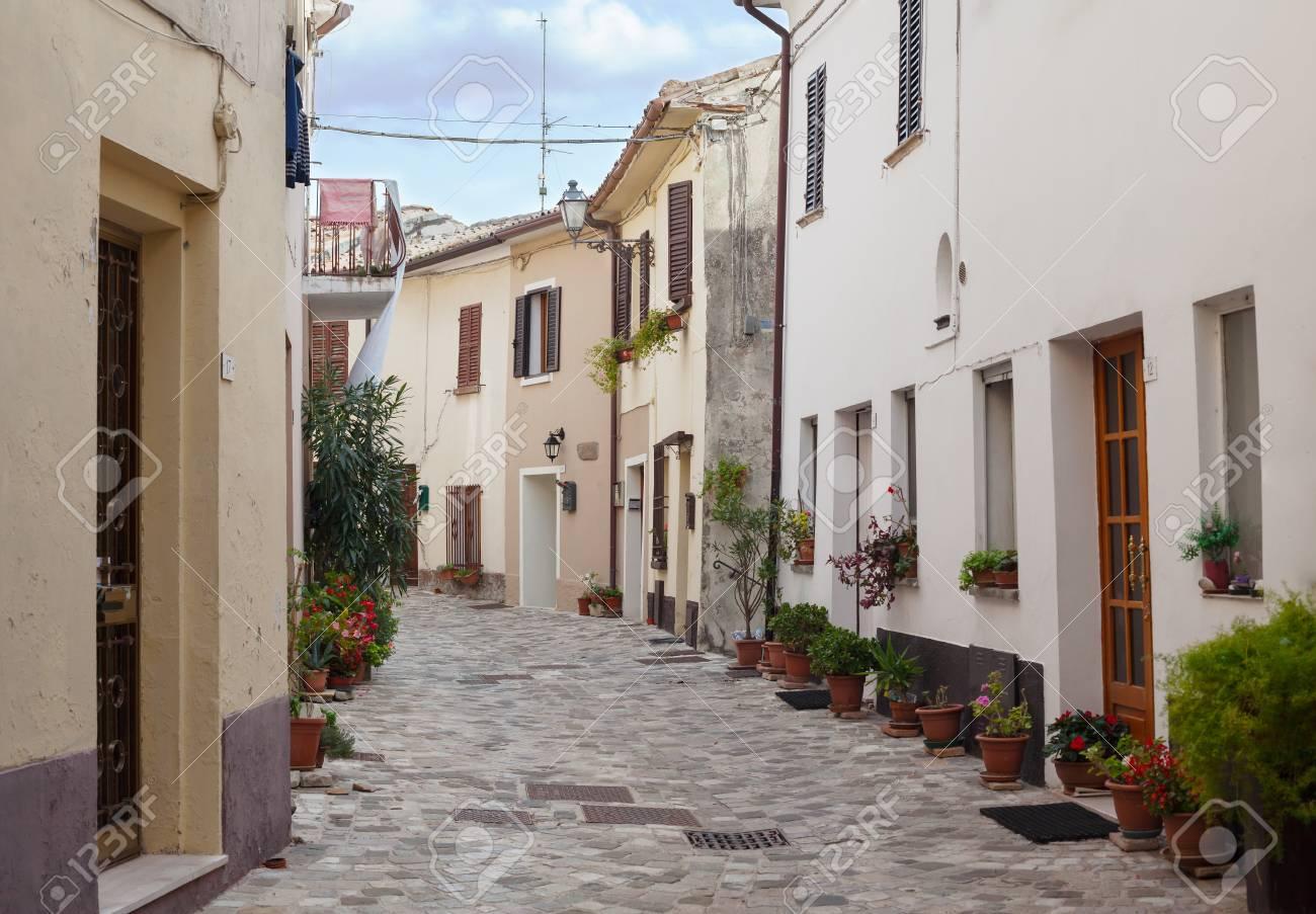 Old little italian street. Beautiful view. Background. - 93266743