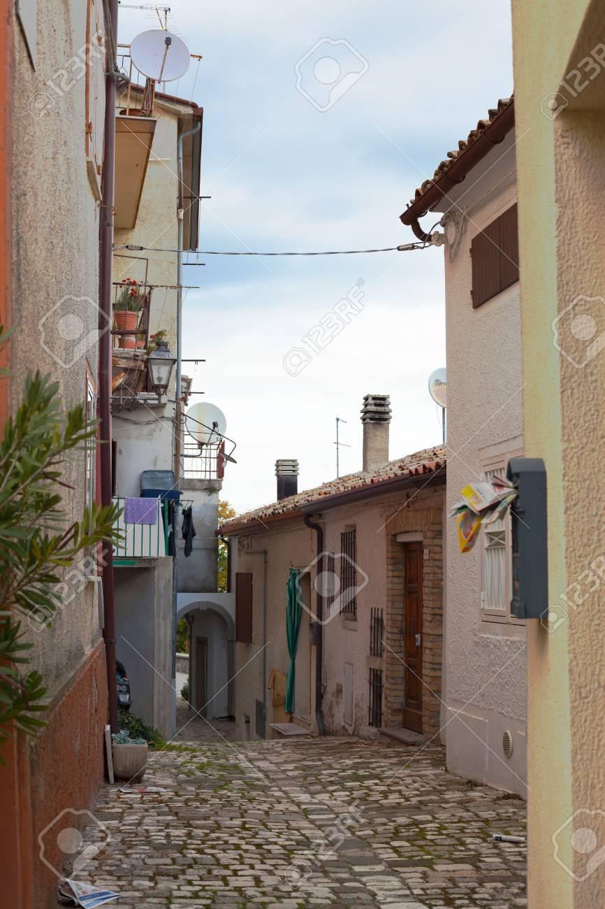 Old little italian street. Beautiful view. Background. - 93791610