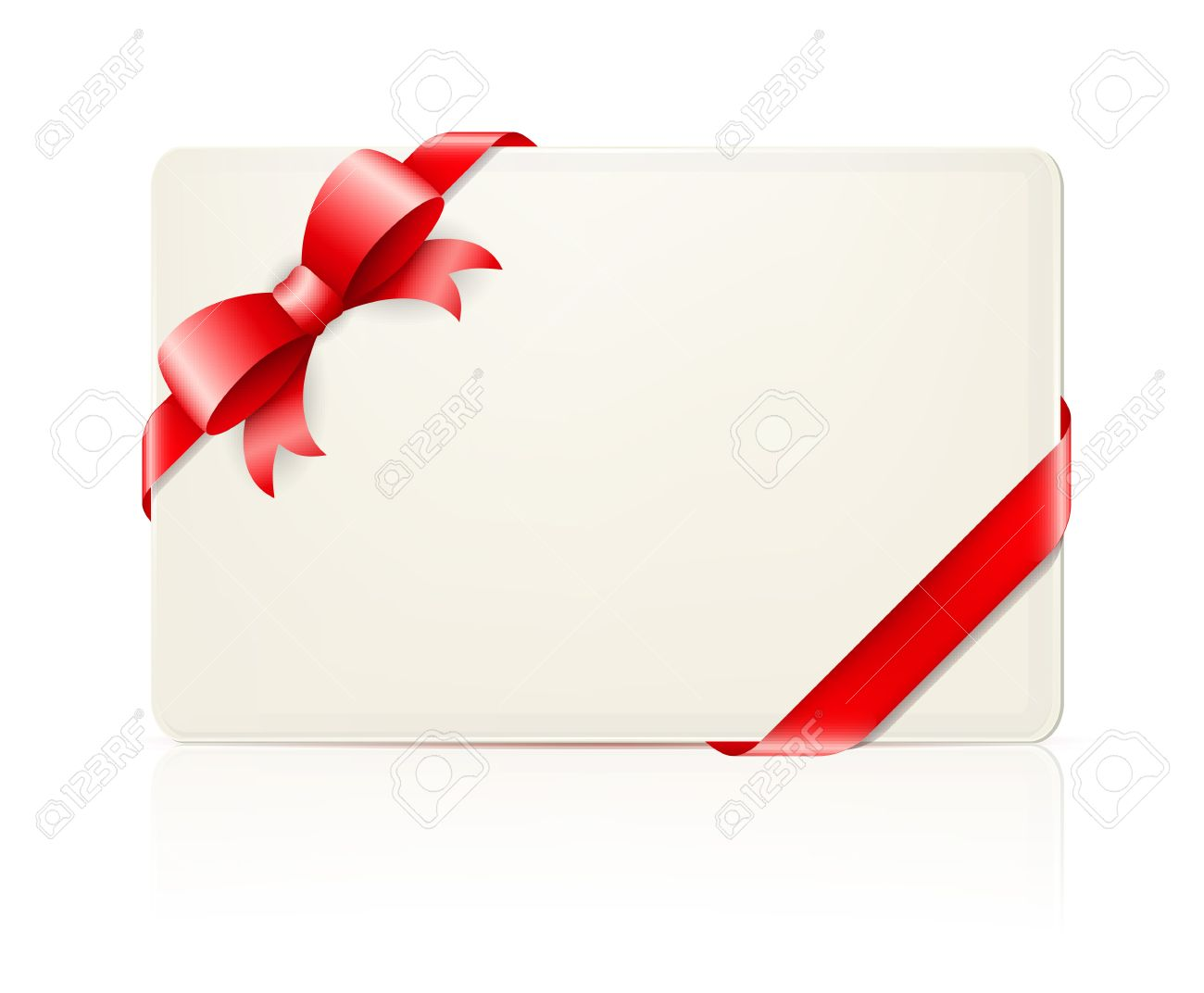 envelope with red bow and ribbon on white  illustration Stock Vector - 19390114