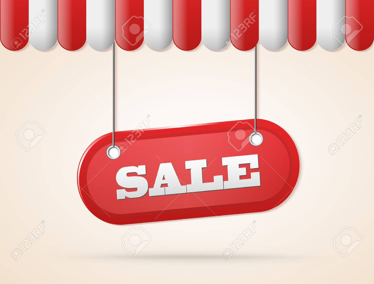 shop roof with sale red sign illustration Stock Vector - 19390616