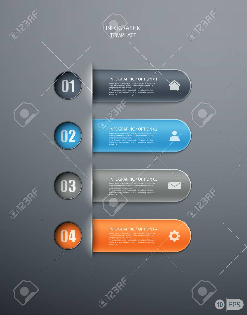 infographics options banner for workflow layout, diagram, number options, web design. illustration Stock Vector - 19392591