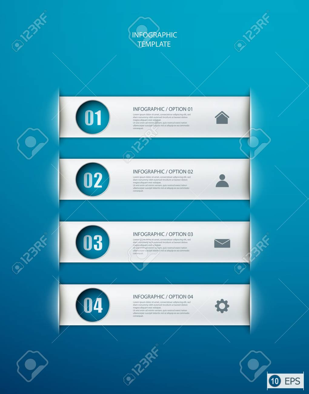 infographics options banner for workflow layout, diagram, number options, web design.   illustration Stock Vector - 19392604