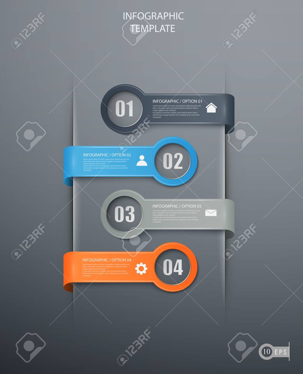 infographics options banner for workflow layout, diagram, number options, web design. Stock Vector - 19744500