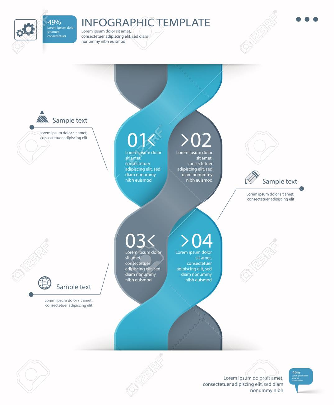 infographic options template Stock Vector - 20323629