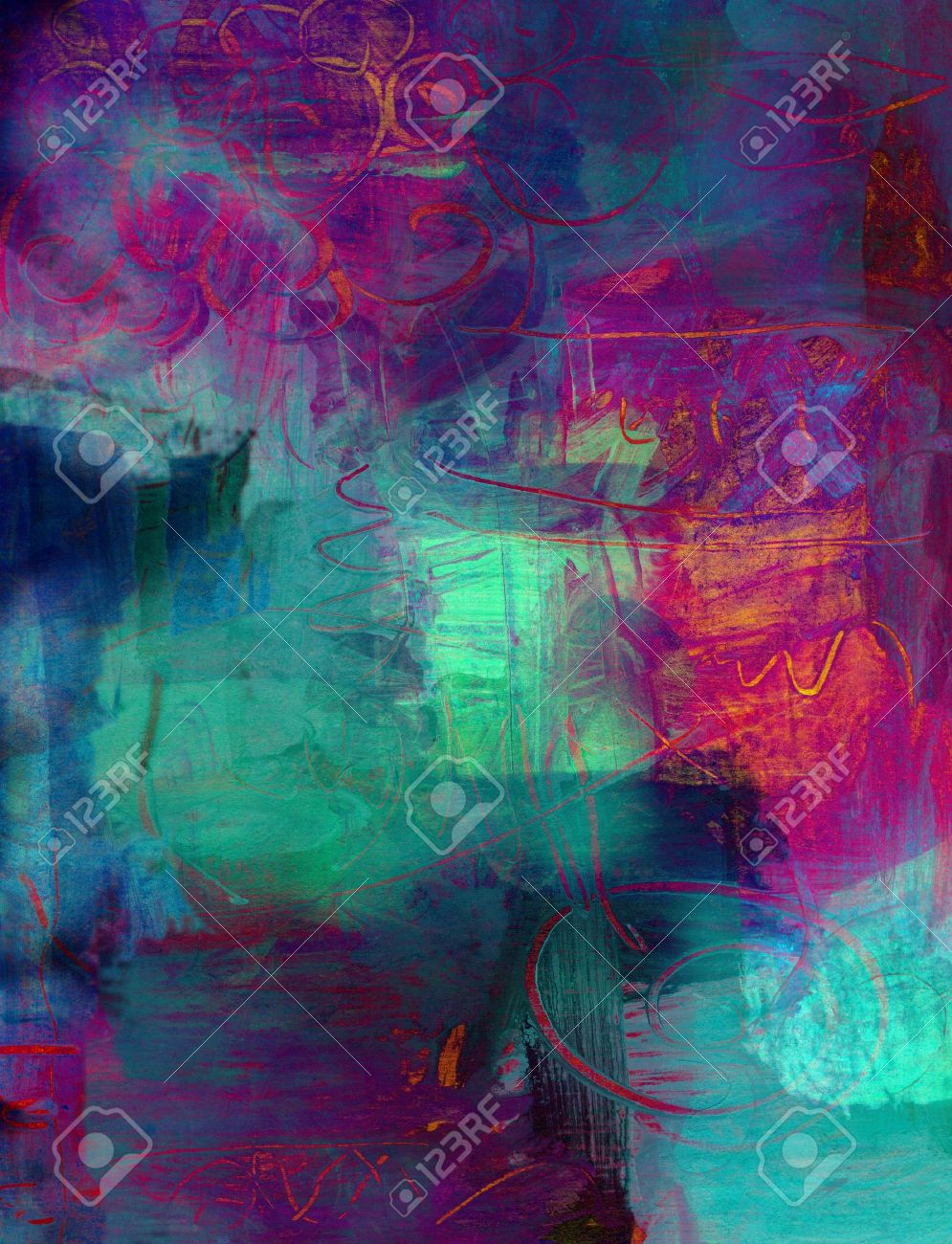 Purple Abstract Art Backgrounds