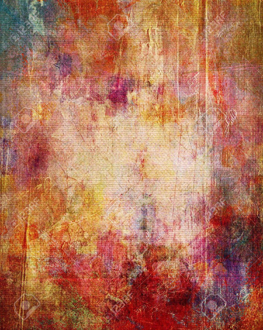 Paint Textures On Canvas Structure Mixed Media Stock Photo