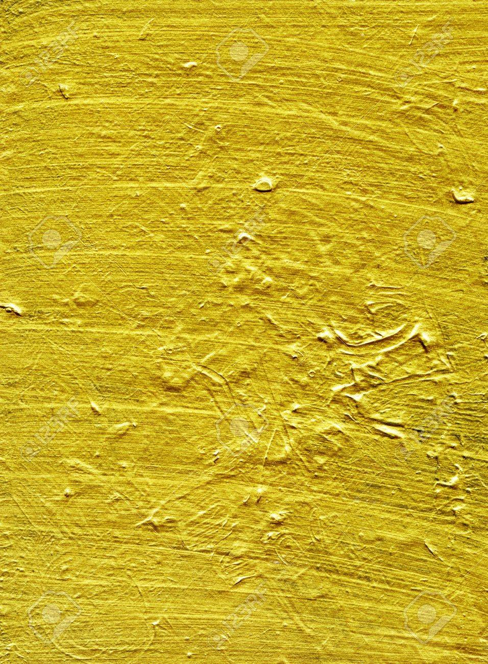 Gold Paint Texture On Old Wooden Panel Stock Photo, Picture And ...