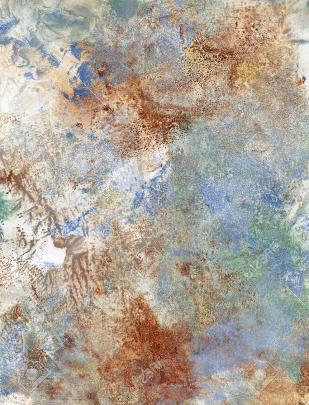 Glacis Peinture à Lhuile Et à Lacrylique Sur Papier Blanc Banque D